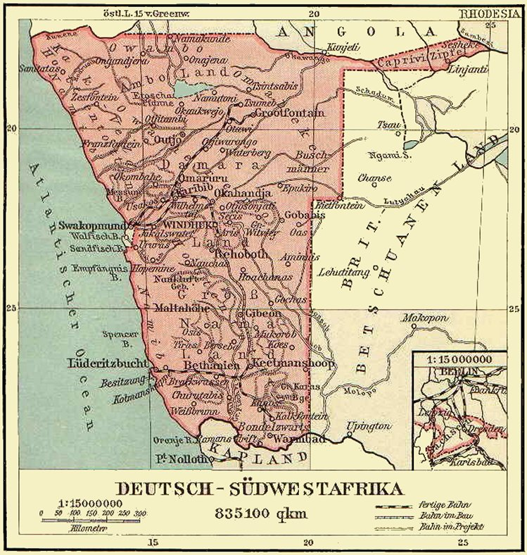 afrika karte deutsch